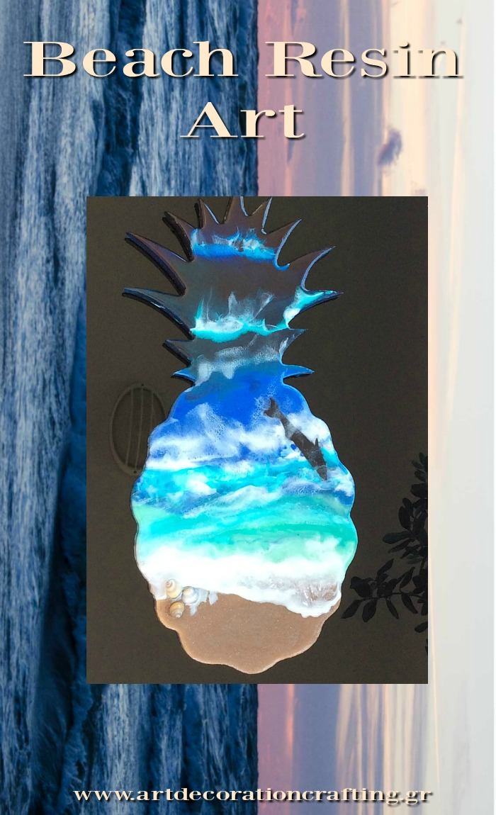 Beach resin art tutorial
