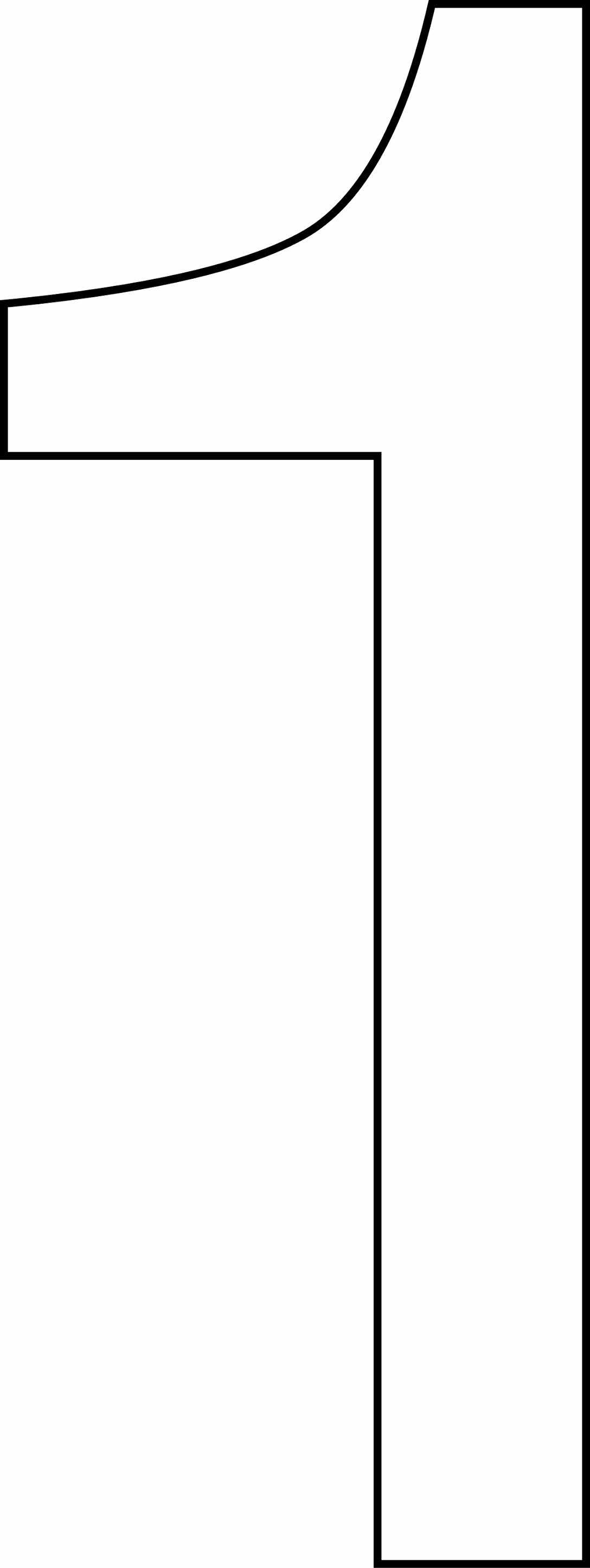 Número (algarismo) 1 para imprimir