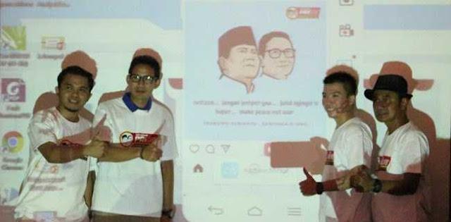 Prabowo-Sandi Resmikan Tim Digital Pride untuk Kampanye Positif