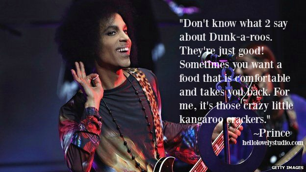 Prince quote about dunkaroos