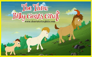 The Three Billy Goats Gruff  -  Short Story for Kids
