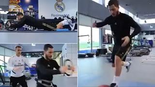 Eden Hazard looks slimmer than ever as return nears