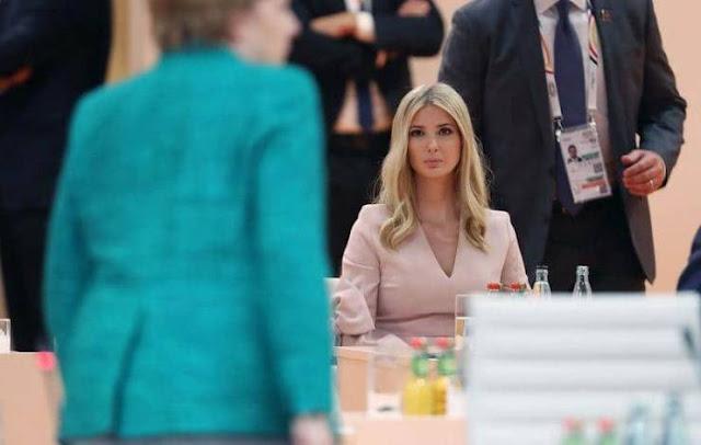 شاهد لحظة جلوس 'إيفانكا' مكان والدها في اجتماع قادة دول العشرين لهذا السبب حلت مكان والدها