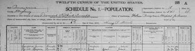 1900 Census showing James Campbell as an inmate