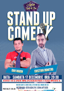 Stand-Up Comedy Sambata 17 decembrie Bucuresti | Maior Cafe
