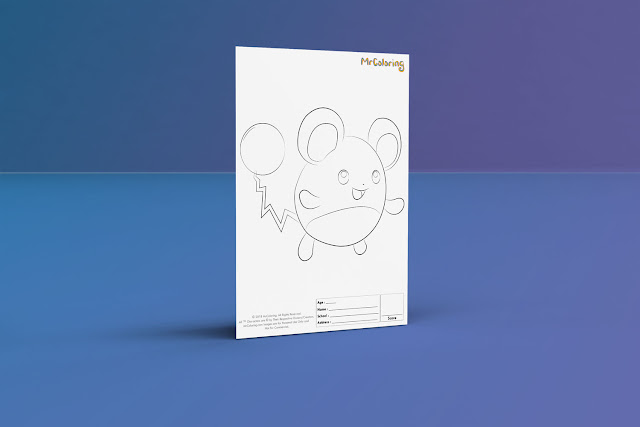 Free Printable Anime Pokemon wigglytuff Coloriage Outline Blank Coloring Page pikachu pdf For Kids Kindergarten Preschool toddler coloring sheets 1