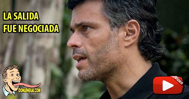 Pablo Quintero informa que salida de Leopoldo López fue negociada con el régimen