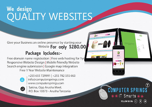 We design Quality Websites