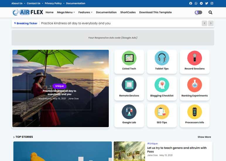 Blogger Template Air Flex