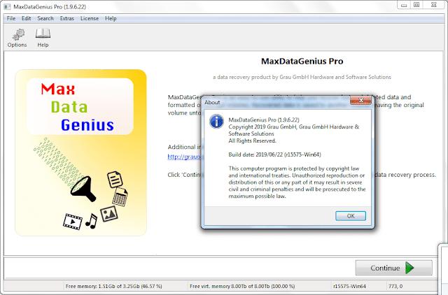 Screenshot MaxDataGenius Pro 1.9.6.22 Full Version