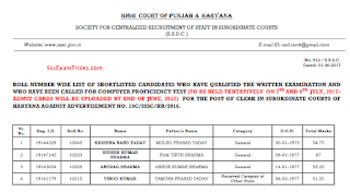 P & H High Court Result