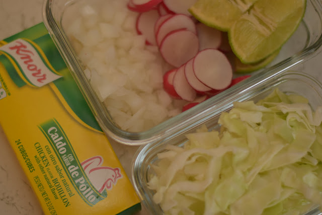 Garnish Preparation for Pozole Rojo