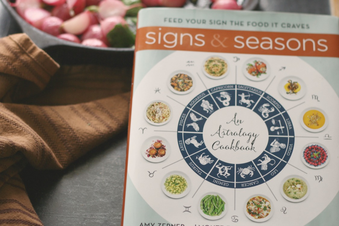 Signs & Seasons: Feed Your Sign the Food it Craves (cookbook review) + Roasted Radishes