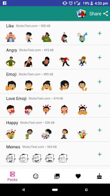 Cara Menambahkan Text Caption pada WhatsApp Stickers - WhatsApp Stickers