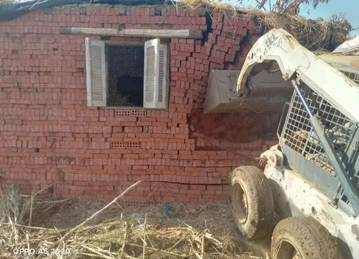 """""""المنوفية"""" : إزالة فورية  لـ 9 حالات تعدى على الأراضي الزراعية بنطاق المحافظة"""