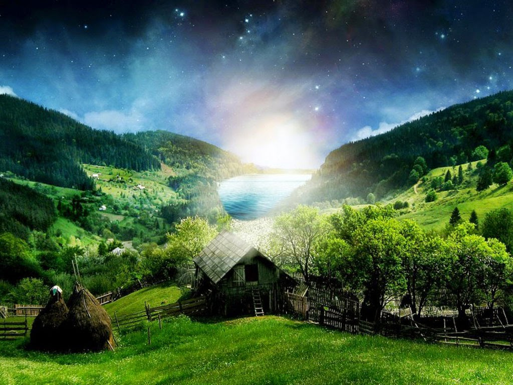 Wallpaper Pemandangan Pegunungan Hijau Indah Terbaru Almagalangi