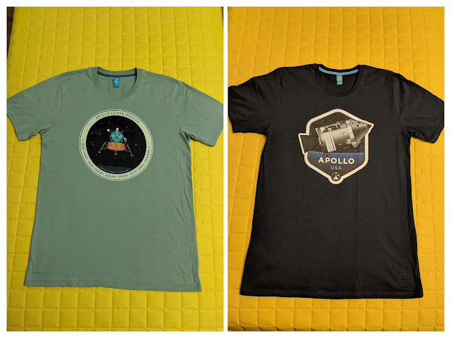 Apollo-themed t-shirts by The High Frontier spaceflight apparel