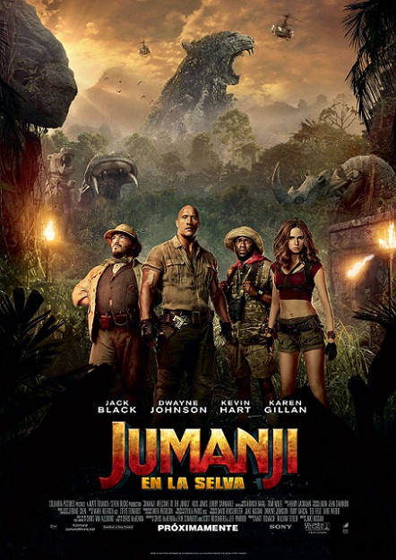 Jumanji: Welcome to the Jungle (Jumanji: En la Selva) (2017) 720p y 1080p WEBRip mkv Dual Audio AC3 5.1 ch