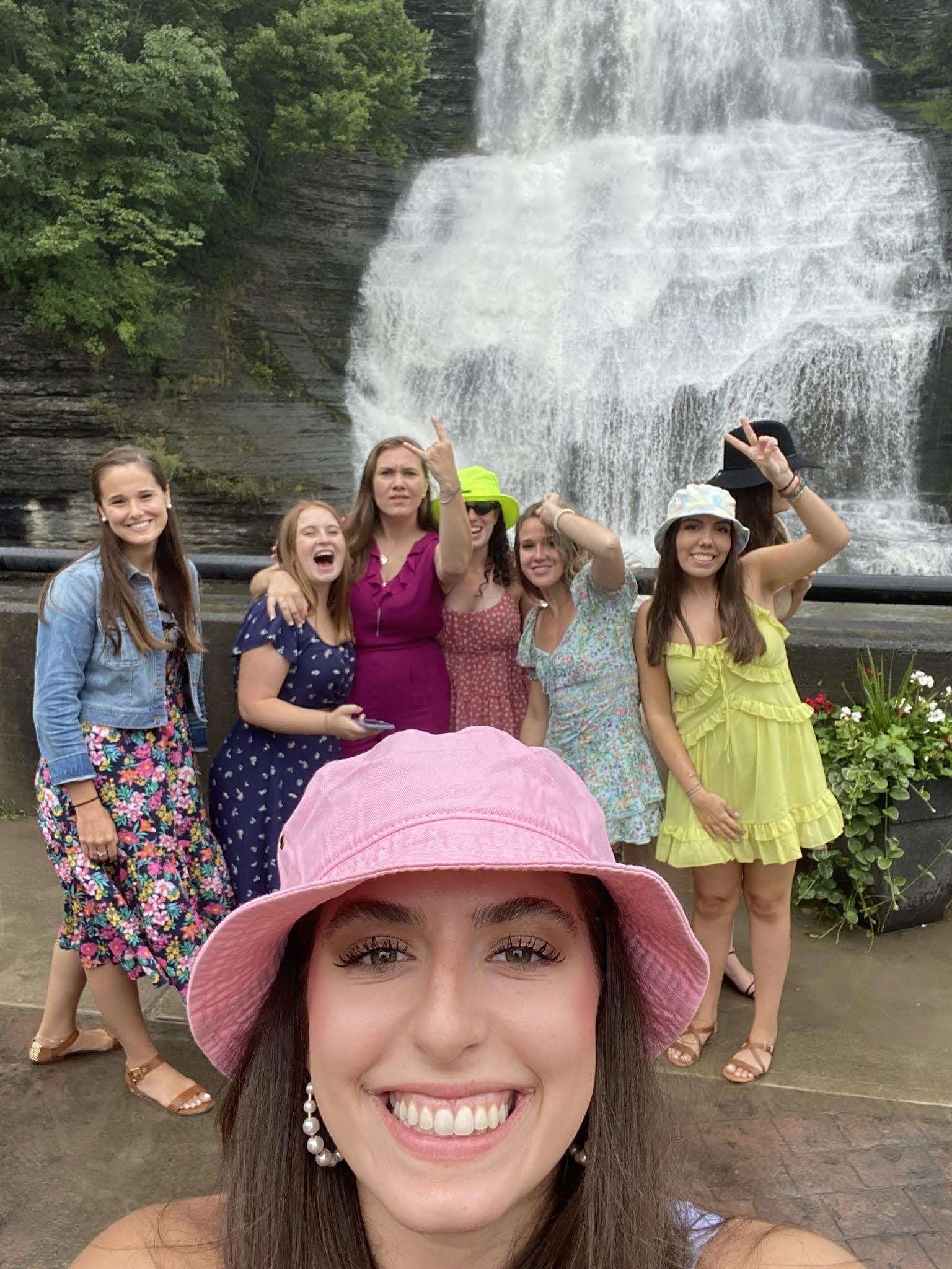 waterfall, lake seneca, finger lakes, new york