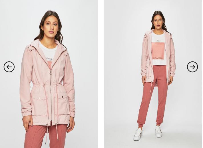 Only - Geaca roz moderna de dama ieftina de calitate