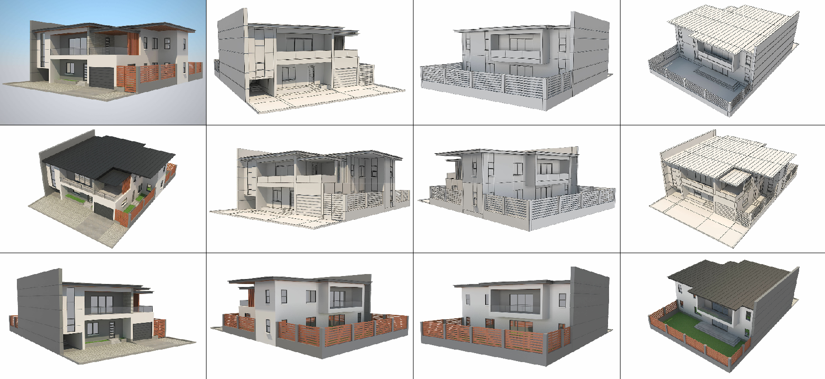 Modern House Free 3D model [3DS, FBX, OBJ, Maya,]
