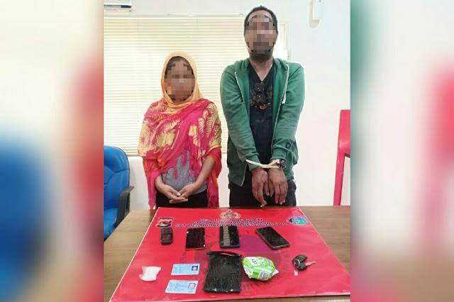 Suami istri ditangkap karena narkoba. Polisi amankan sabu hingga pembalut