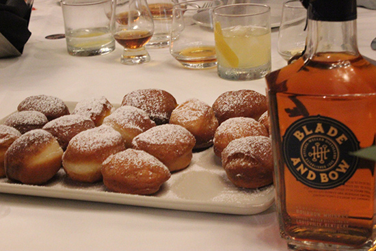 Fruit Beignet with Whiskey