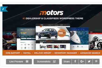 Download Theme Wordpress Rental And Car Dealer