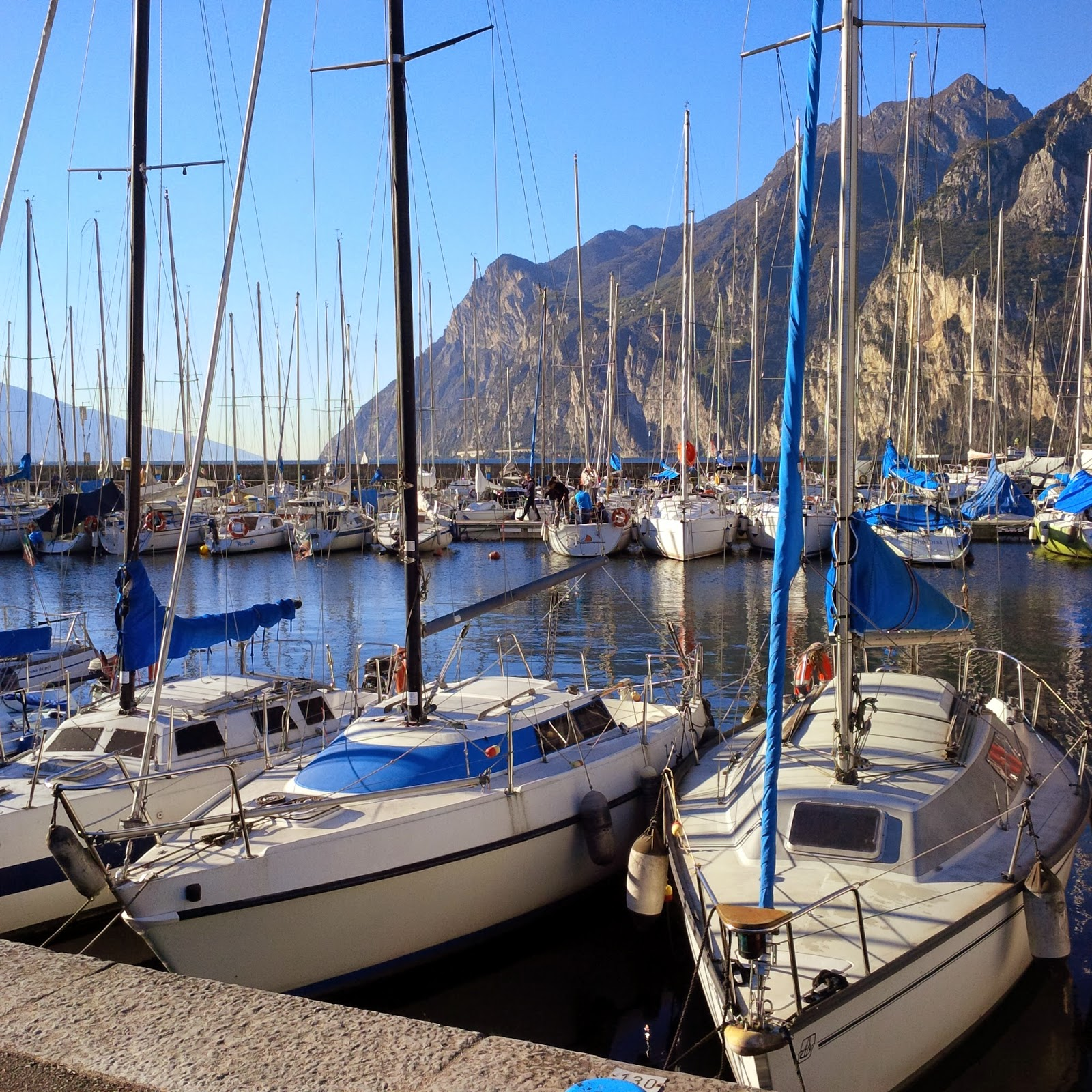 The marina at Riva del Garda