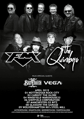 FM + Quireboys April 2019 tour poster