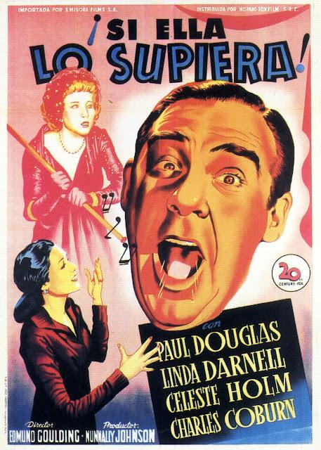 Programa de Cine - ¡Si Ella lo Supiera! - Paul Douglas - Linda Darnell