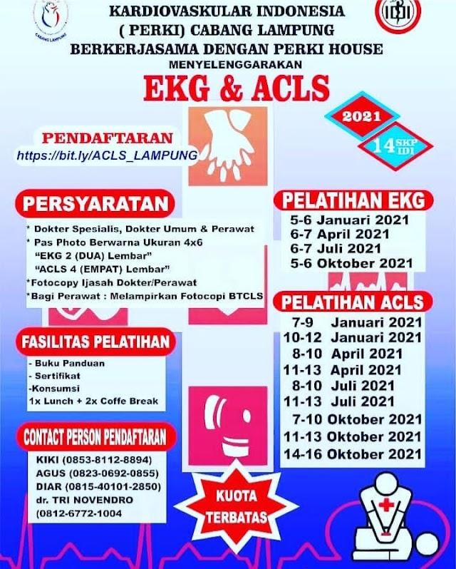 Pelatihan EKG PERKI Lampung Tahun 2021