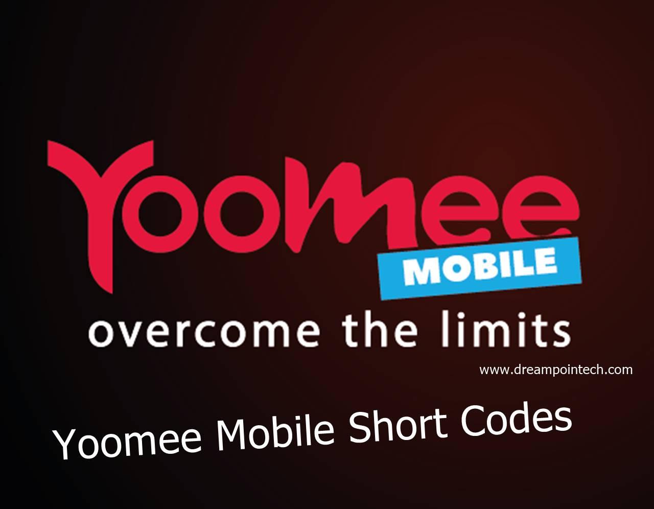 Yoomee Mobile Short Codes