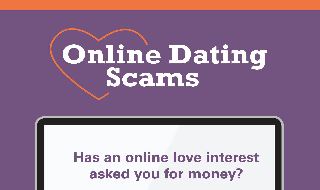 Online Dating Scams #infographic