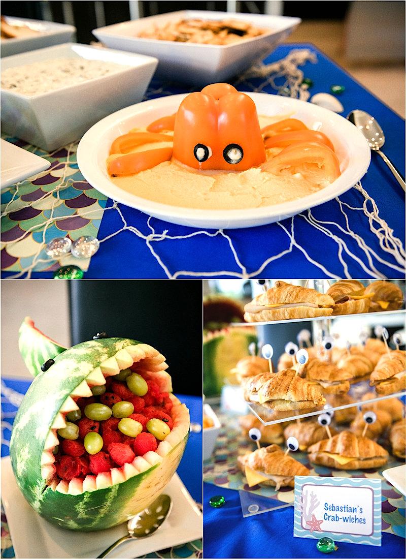 Une Fête d'Anniversaire Sous l'Océan - cette fête regorge d'incroyables détails DIY , d'idées de plats, décorations de table, sweet table et de cadeaux! via BirdsParty.com @birdsparty #doty #nemo #souslocean #sireneparty #anniversairesirene