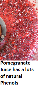 Pomegranate Juice has a lots of natural Phenols