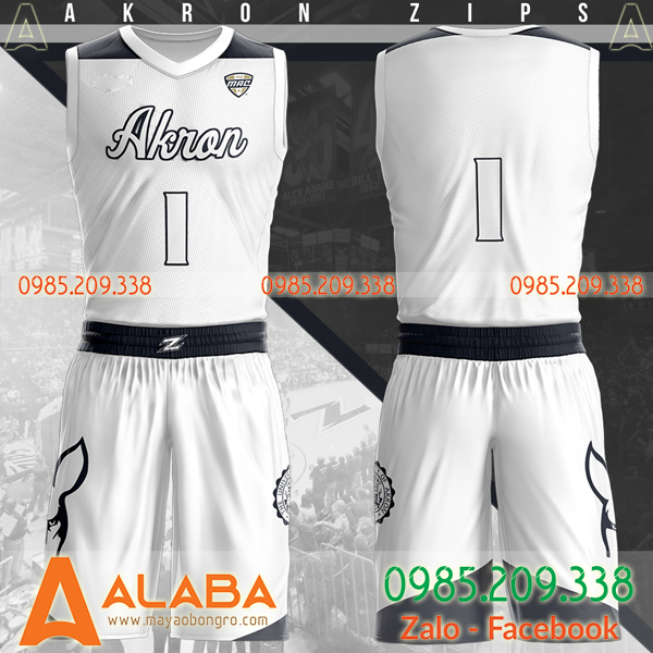 Áo bóng rổ tự thiết kế màu trắng mới
