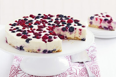 White chocolate and berry cheesecake desserts recipes