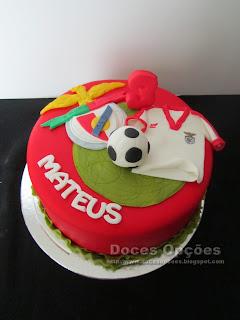 Bolo de aniversário Benfica