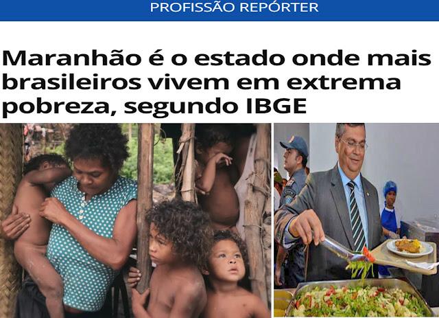 É EXTREMO!! A dissimulação e politicagem do comunista Flávio Dino diante da extrema pobreza de 1.400.000 (um milhão e quatrocentos mil) maranhenses