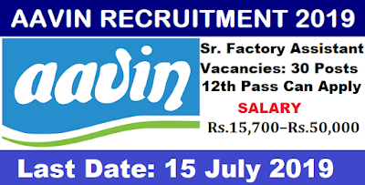 AAVIN Milk Recruitment 2019