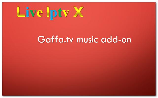 Gaffa.tv music addon