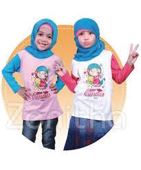 Atasan Kaos Muslim Anak Perempuan Terbaru