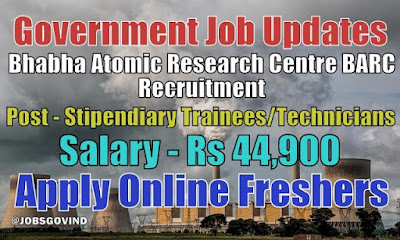 BARC Recruitment 2021