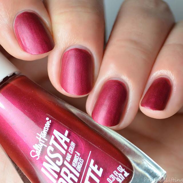 matte mauve metallic nail polish