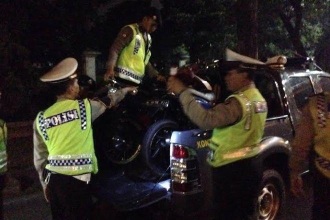 Gerebek Balap Liar di Bone, Belasan Kendaraan Diangkut ke Mapolres
