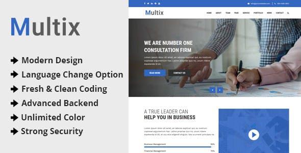 Multix v1.0 - Multipurpose Website CMS with Codeigniter