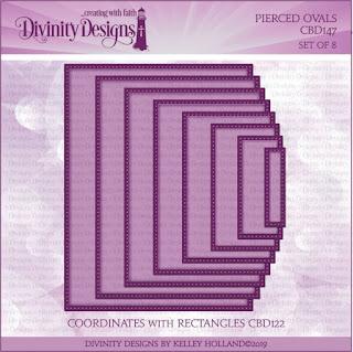 Divinity Designs LLC Pierced Rectangles Dies