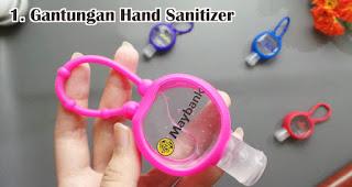 Gantungan Hand Sanitizer bisa menjadi pilihan souvenir natal selama pandemi