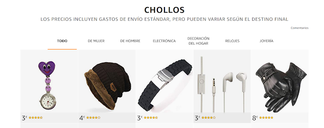 buscar chollos en Amazon